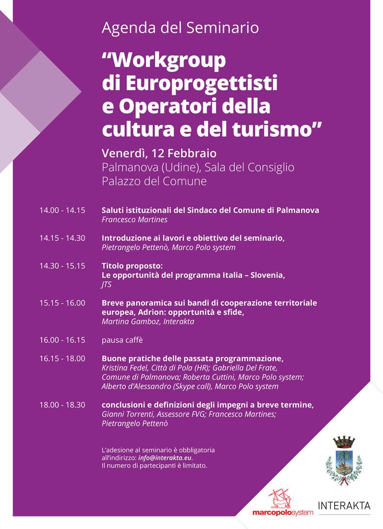 Martina Gamboz - Interakta d.o.o. Svetovanje in kulturni management-Seminario_Palmanova_Invito_bozza